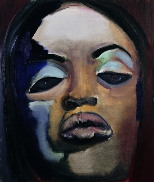 Naomi, 1995 Oil on canvas 51 1/5 × 39 2/5 in 130 × 100 cm © Marlene Dumas photo: Peter Cox Image provided by: The Stedelijk Museum Stedelijk Museum Amsterdam